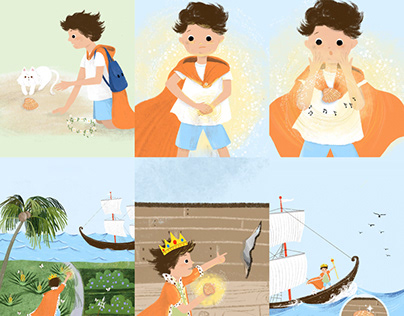 children book.The king and the ship &The quizz