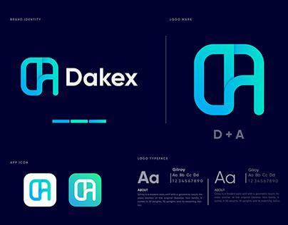 D+A Letter Logomark - Dakex Logo