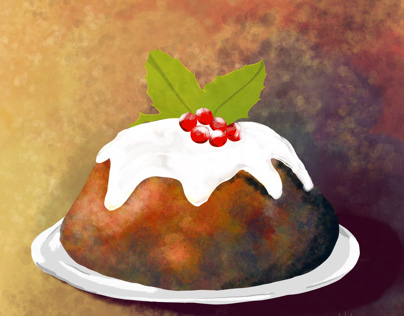 Figgy Pudding - Day 6 Advent Art Challenge