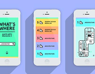 Digital wayfinding concept for Aalto Arts