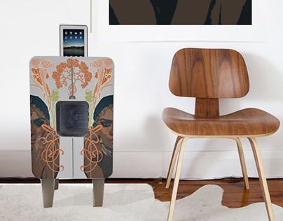 meuble enceinte dock on behance. Black Bedroom Furniture Sets. Home Design Ideas