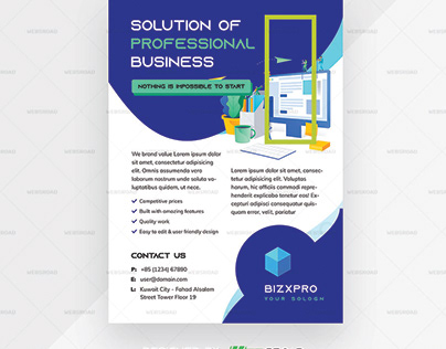 Bizxpro Creative Business Flyer Premium Printing