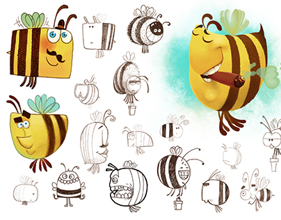 The bee - character design