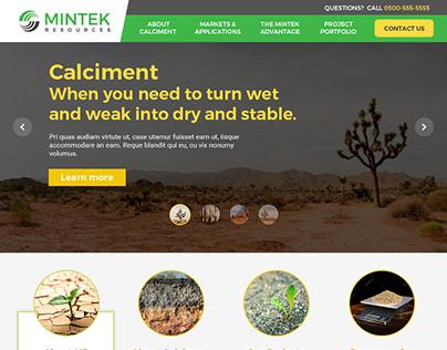Mintek Resources Webpage revamp