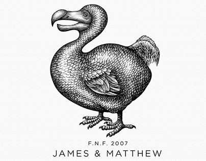 James & Matthew Logo Mark Illustrated by Steven Noble
