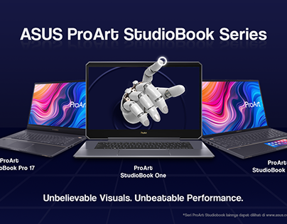 Asus Proat Stuidobook Series Layout Design