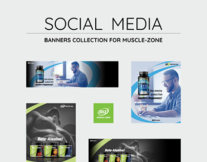 Social media banners collection for online store