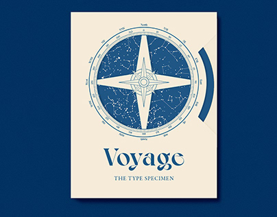 Typology Book and Voyage Typeface Specimen
