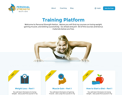 Personal Strength Home page