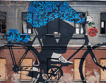 Bicyclist with a Rose