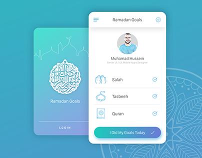 Ramadan Goals App idea