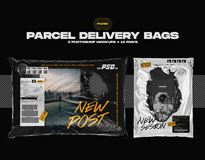 Parcel Delivery Bag - Photoshop Mockups