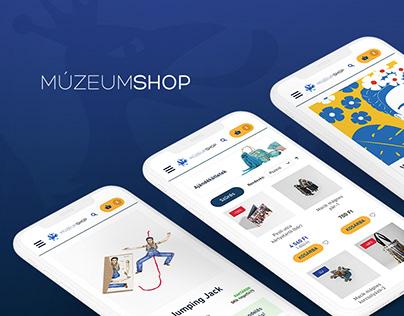 MúzeumShop e-commerce website