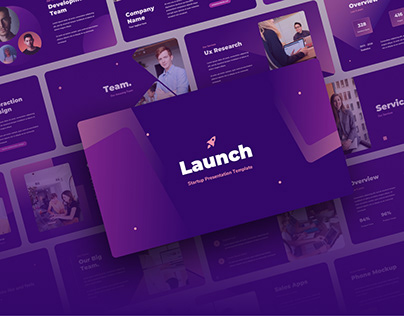 Launch - Startup Presentation Template