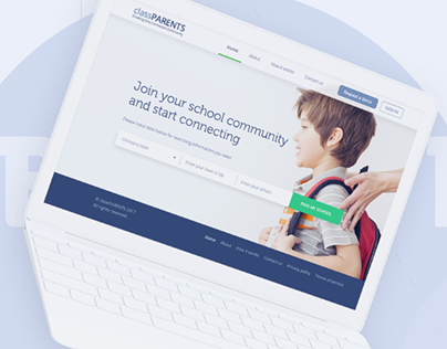 Design for the website of the education platform.