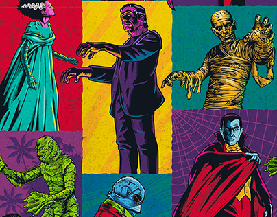 """Universal Classic Monsters """"Monsterror"""" Style Guide"""