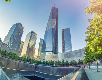 New York City - World Trade Center At Sunset