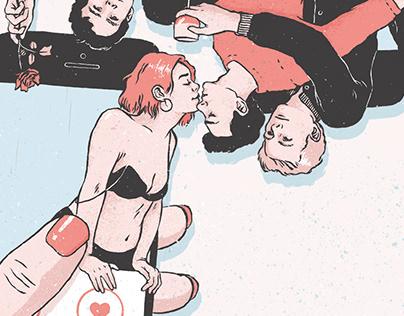Sexonline book cover illustration
