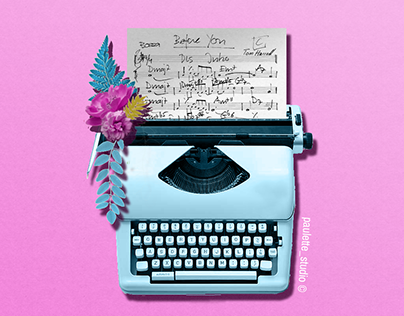 Typewriter flowers ! 🖨🌸