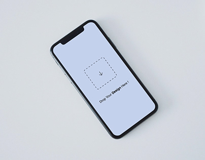 Free Top View iPhone X Mockup