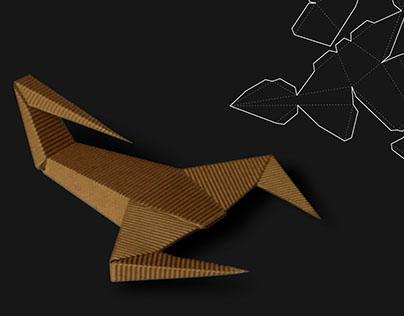 Animal geometry synthesis, cardboard scorpio