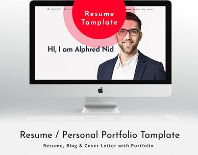 Portfolio & Resume HTML Template