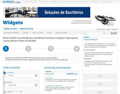 UI Design de Widgets O POVO Online