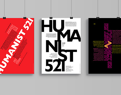 'Humanist 521' typography poster series