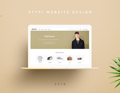 STYFI Website Design
