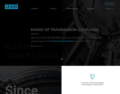 Ui/Ux design for a coupling manufacturer!