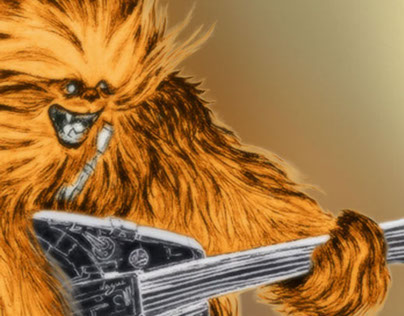 Chewbacca Rock Star Wars