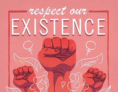Feminism - Design of Protest Poster