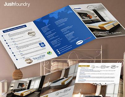 Dunlopillo A4 Tri-fold Brochure