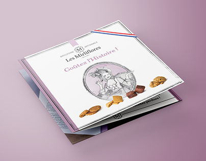 Brochure design for a cookie brand