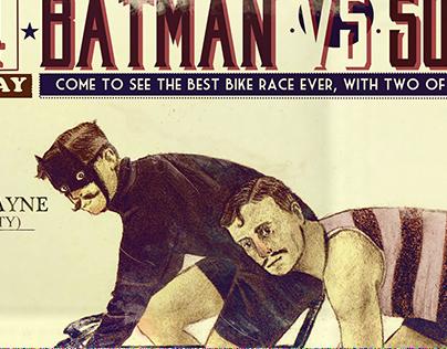 Poster vintage: Batman vs Superman