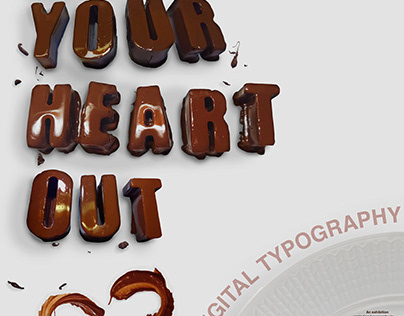 Eat Your Heart Out - Dimensional Typography