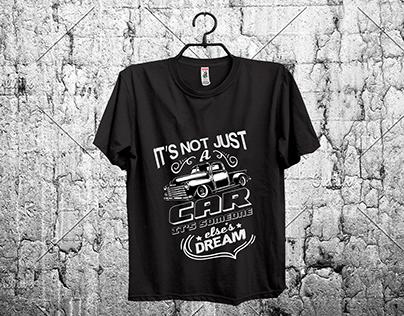 car t-shirt design.