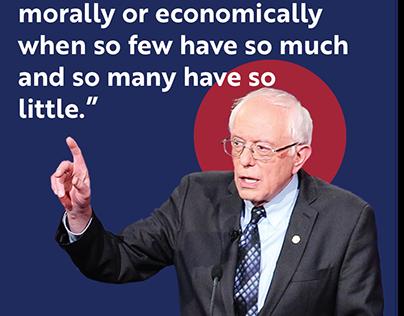 Bernie Sanders Graphic Quote