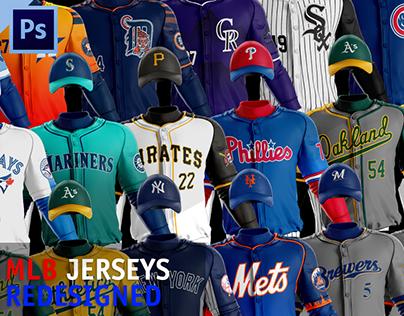 MLB Jerseys Redesigned