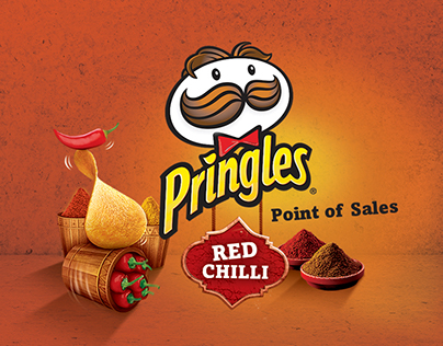Pringles Red Chilli Point of Sales Material