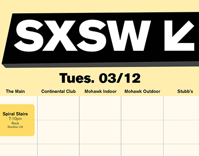 South by Southwest Schedule 2019
