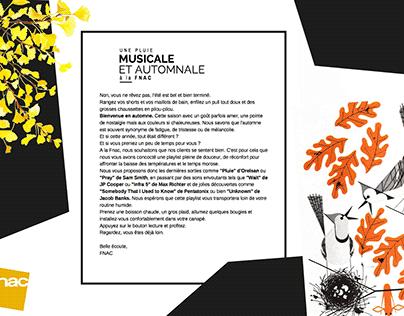 Edito Fnac Une pluie musicale - Projet étudiant