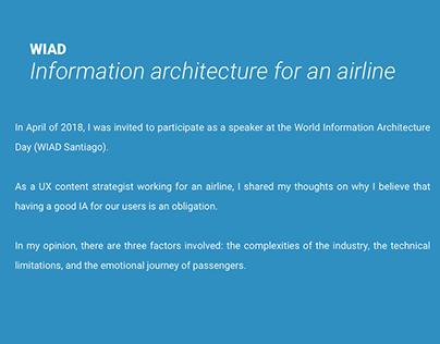 World Information Architecture Day 2018 (WIAD SCL)