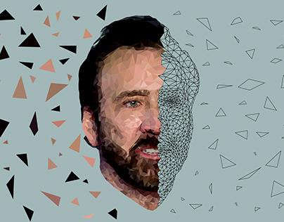 Nicolas Cage - Low Poly Portrait