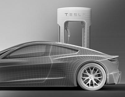Tesla | CGi | Hard-surface modeling