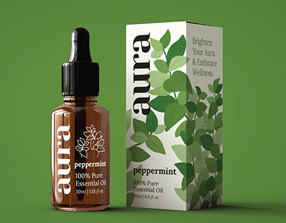 Aura Essential Oils | Branding & Package Design