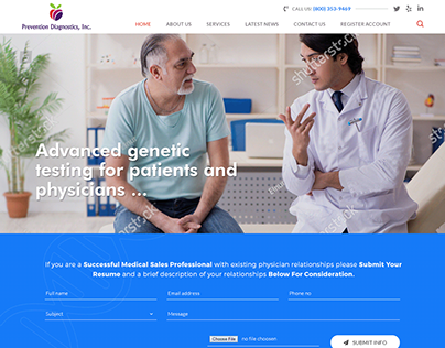 Medical Diagnostic Center Business Website Design