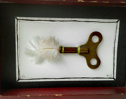 :Feather Key: combined technique, 2019