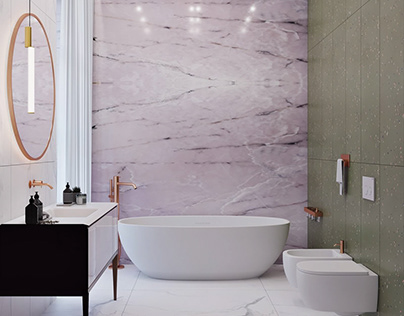Pink Onyx Bathroom