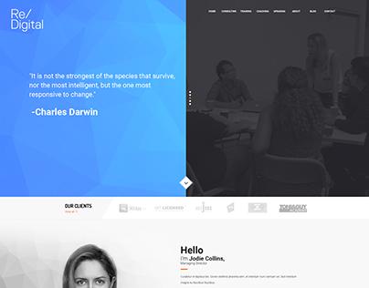 Re/Digital consulting company website design concept